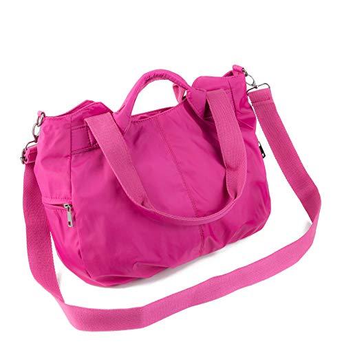 - ZOOEASS Women Fashion Large Tote Shoulder Handbag Waterproof Multi-function Nylon Travel Crossbody Bags (Rose)