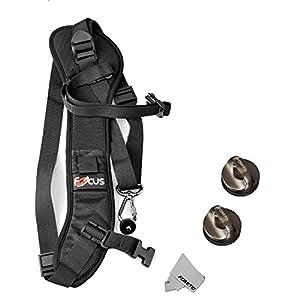 Fomito Quick Rapid Shoulder Sling Belt Neck Strap & 2pcs Screw Mount for Camera DSLR SLR DV Black