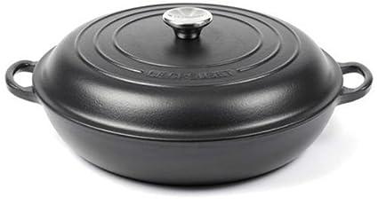 Le Creuset - Cazuela de hierro fundido (30 cm), color negro mate