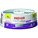Maxell 634046 Rewritable Recording Format Superior Archival Life 4.7Gb DVD+RW Disc Archive and Capture High Capacity Files
