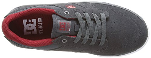 DC Shoes Nyjah Vulc, Jungen Sneaker Grau - Gris (Dark Shadow)