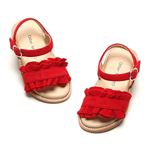 - Otter MOMO Girls Sandals (8M-6 5/16 inches-16.1cm, D703-Red)