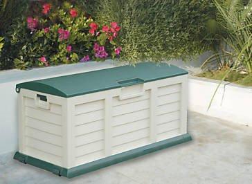 Huge 390l Garden Cushion Storage Box Chest Shed