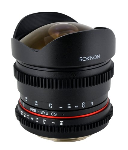 Rokinon RK8MV-N 8mm T3.8 Cine Fisheye Lens for Nikon Video DSLR with Declicked Aperture