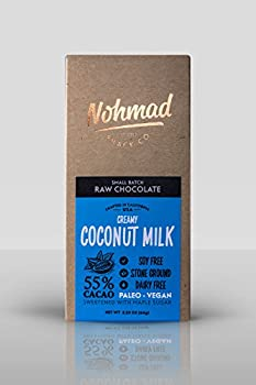 Nohmad Snack Co - Raw Chocolate - Coconut Milk- 55% Cacao - Vegan Friendly (2 pack)
