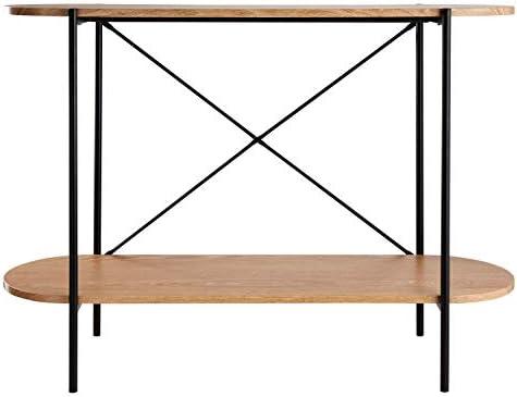 Betaalbaar Console tafel, bijzettafel voor de woonkamer en de gang Scandinavisch design gemaakt van MDF hout met PVC film modern design 100x30x75cm  1IHyFJf