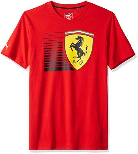 PUMA Mens Scuderia Ferrari Big Shield T-Shirt, F Rosso Corsa, M