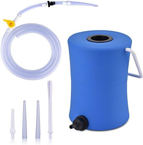 2 Liter Enema Kit Care Einlaufset für Darmeinlauf, Einlauf zur Darmreinigung mittels Irrigator, Irrigator Set mit Darmrohr,2l
