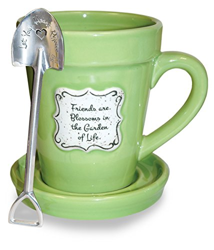 Divinity Boutique 22866 Flower Pot Lime - Friends (Spoon With Scripture), Multicolor