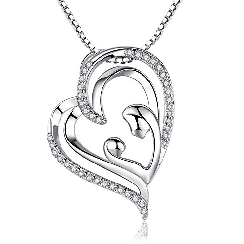 i love you mom mother daughter necklace jewelry gifts for women