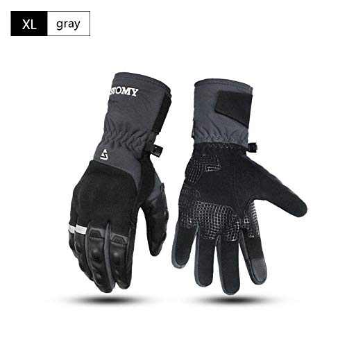 Men Winter Motorcycle Riding Gloves Thickened Warm Touch Screen Gloves Waterproof Ski Gloves Cold Weather Gloves