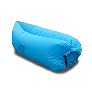 Vetroo Outdoor Inflatable Hangout Portable Bag Lounger - BLUE - Made with High Quality Nylon Fabric - Suitable For Camping, Pool, Beach Couch Sofa, Dream Chair Garden Cushion, Sleeping Air Bed