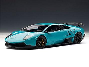 Lamborghini Murcielago Lp670 4 Sv 1 18 Turquoise Blue Autoart