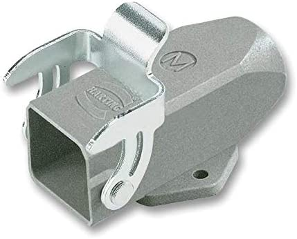 Pack of 2 Panel Mount M20 Heavy Duty Connector Base Top Entry 3A, Zinc Body 1 Lever 19200031252
