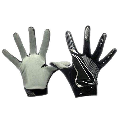 Nike Promo Vapor Jet 4.0 All Purpose Adult Football Gloves (Black/Metallic Silver, 3XL)