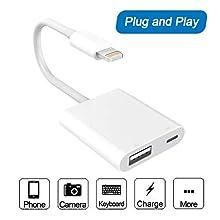 Elecjoy - Adaptador USB 3.0 Hembra OTG con Interfaz de alimentación USB, Cable de Carga de sincronización de Datos, no Requiere aplicación