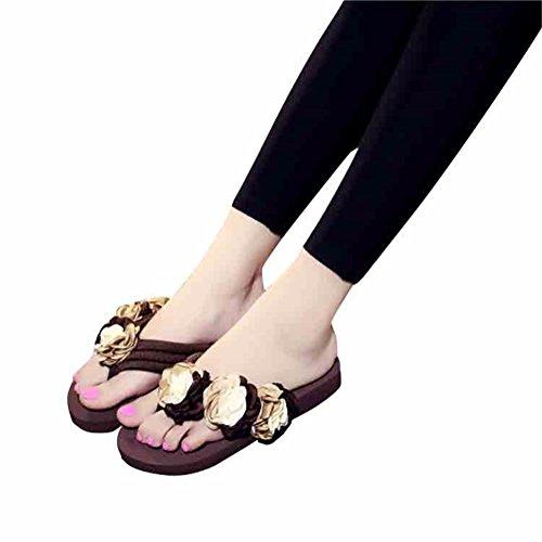 De Chaussons YUCH Occasionnels Chaussures Plage Brown Patinage Femmes Patinage dCdXr