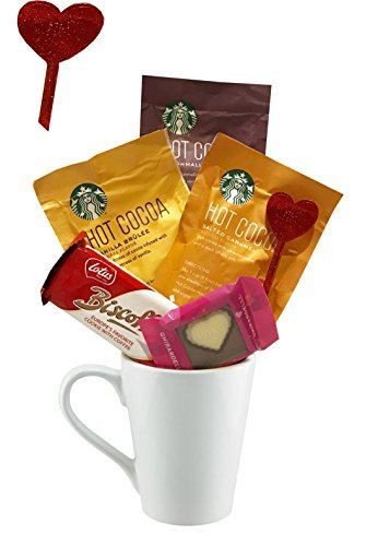Valentines Gifts | Valentines Care Package | Coffee | Hot Cocoa |Tea | Kids, Teenagers, Adults, College Students, Teachers, Mom, Dad (Hot Cocoa, Starbucks Variety)