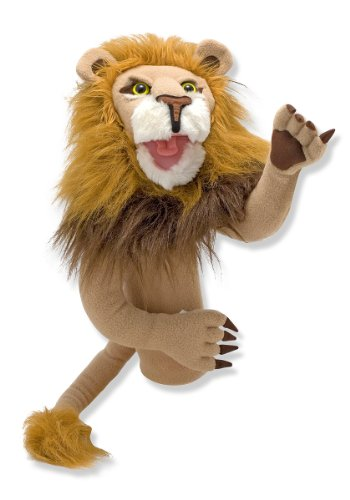 Melissa & Doug Rory the Lion Puppet with Detachable Wooden Rod (Puppets & Puppet Theaters, Animated Gestures, Inspires Creativity, 15