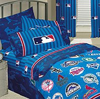 MLB Playoff Baseball Bedding Sheet SetCheck