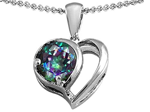 Star K Sterling Silver Heart Shape Pendant Necklace