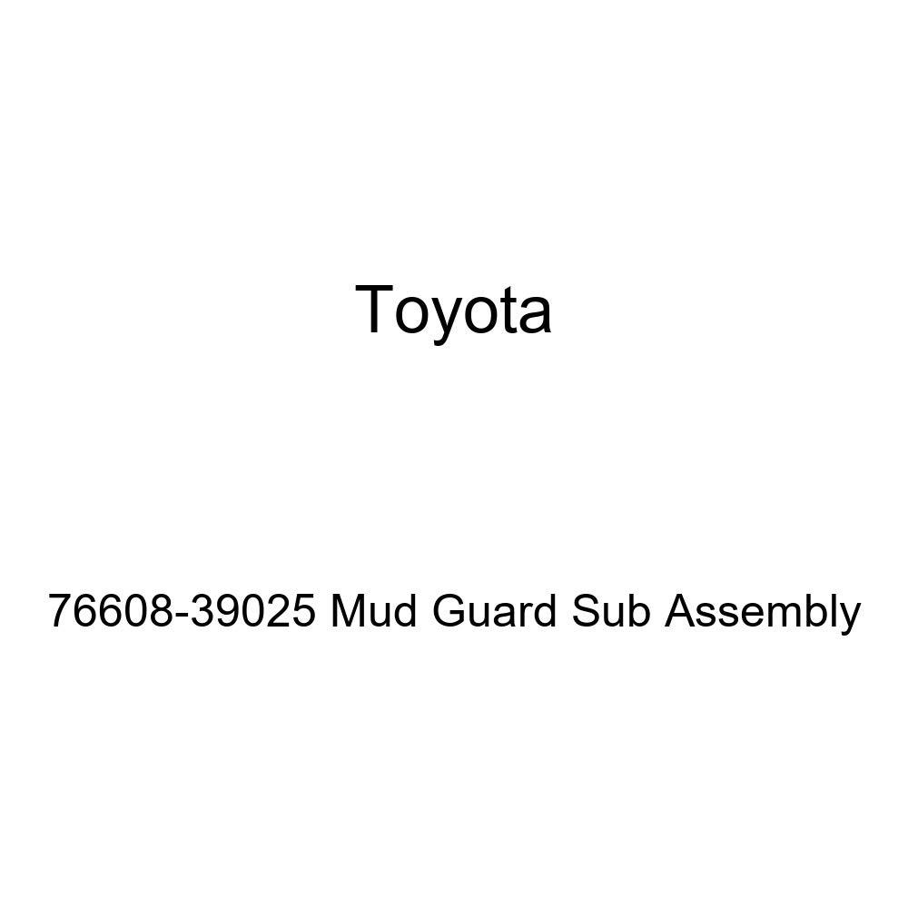 TOYOTA Genuine 76608-39025 Mud Guard Sub Assembly