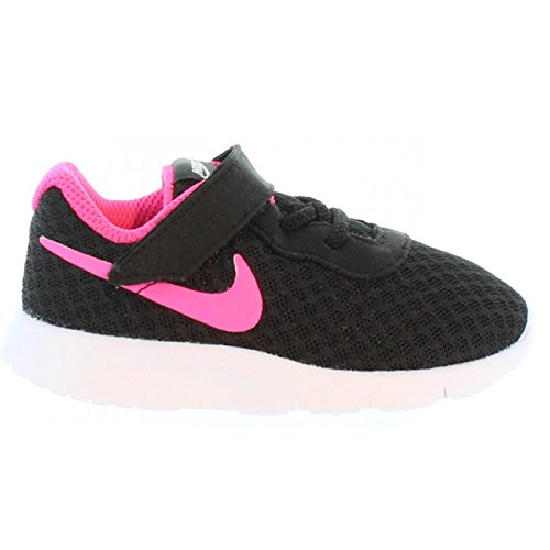 NIKE Toddlers Tanjun (TDV) Running Shoe Black Hyper Pink White