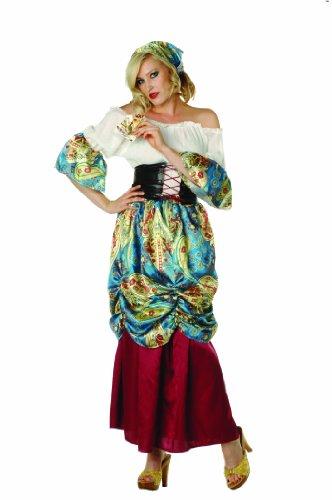 RG Costumes Women's Esmeralda, Burgundy/Blue/Cream/Multi, Large/8-10 -