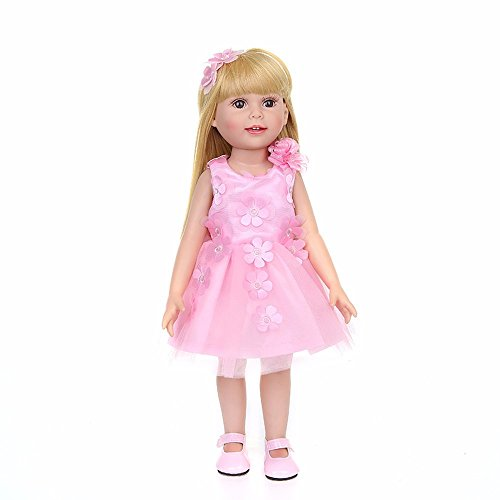 Doll Skirt Set - American girl doll clothes 18 inch and accessories pajamas Sticky flower skirt,matching girl clothes clothing set Doll skirt Closet,our generation doll clothes patterns storage (pink)