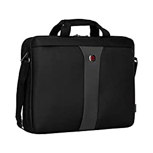 Wenger 600654 LEGACY 17″ MacBook Pro Slimcase , Airport friendly with iPad/Tablet / eReader Pocket in Black / Grey {9 Litres}