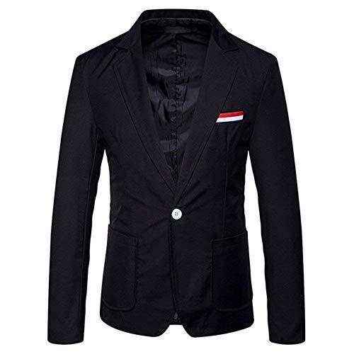 Sportiva Giacche Slim Da One Abiti Fashion Schwarz Giacca Uomo Hx Blazer Taglie Button Comode Vestibilità Casual A PqtEHBxnw6