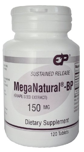 EP Meganatural BP 150mg soutenue de pépins de raisin Extrait de parution 120 Tabs