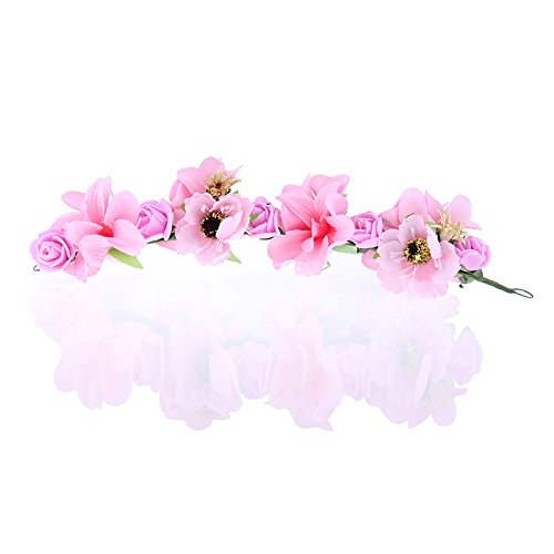 - Olici Headdress Accessories/Hair Pins/Party/Prom/Bride/Girls Sweet Fresh Multicolor Flowers Wreaths Flowers Pink Hair Ornaments