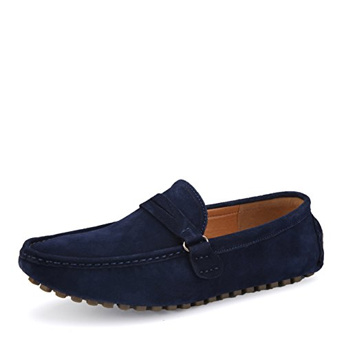 Zapatos del frijol confort pie/Zapato ocasional de la conducción/Un zapatos de los hombres de ocio pedal azul marino