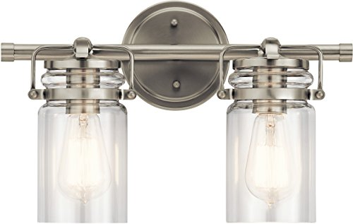 Kichler Lighting 45688NI Two Light Bath from The Brinley Collection, Brushed Nickel
