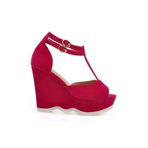 Adee - Sandalias de vestir para mujer Rojo