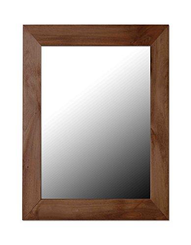 Mahogany Contemporary Mirror - Home Basics Contemporary Rectangle Wall Mirror, Mahogany