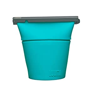 Luumi Unplastic Bowl - Reusable 100% Platinum Silicone Collapsible Food Storage Containers - Microwave, Oven, Freezer and Dishwasher Safe (Teal)