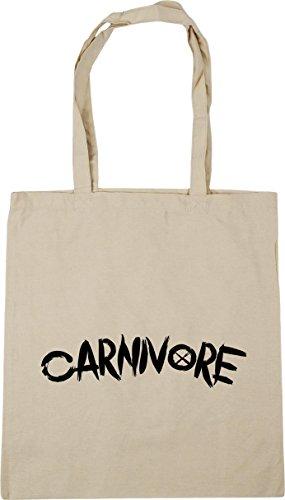Carnivore HippoWarehouse Gym Natural litres Beach Tote Shopping 10 Bag 42cm x38cm ZdrdqwA1O