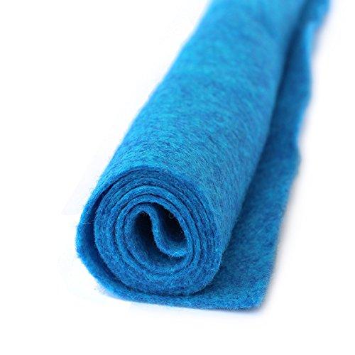 (Tropical Wave Turquoise Blue - Wool Felt Oversized Sheet - 35% Wool Blend - 1 12x18 inch)