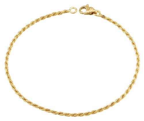 Orleo - REF3578BB : Bracelet Femme Or 18K jaune - Maille Corde