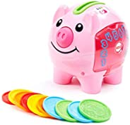 Fisher-Price Laugh & Learn Smart Stages Piggy Bank, Cha-Ching Get Ready to Cash in on Playtime Fun and Lea