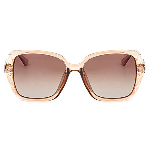 UV De PC De Elegante para High Brown Visible Coreana Lady Sol QQBL Polarizadas Gafas UV400 99 Versión Perspective Resina Purple Anti Light End 8nqFUEP