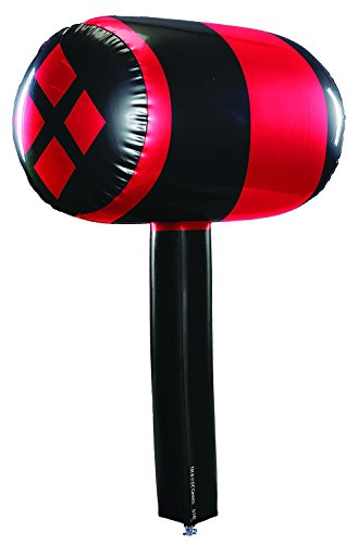 Harley Quinn Mask (Rubie's Costume Co Women's Batman Harley Quinn Inflatable Mallet, Multi, One Size)