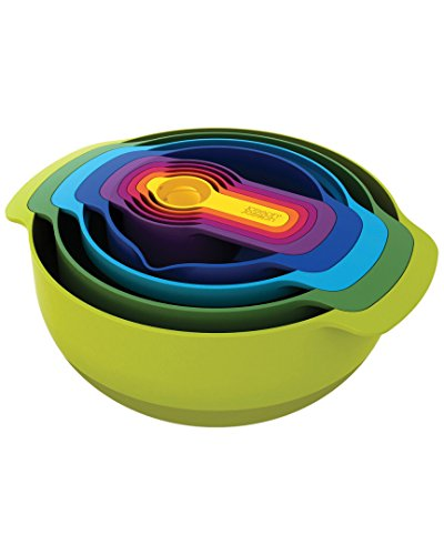 Joseph Joseph 40033 Nest 7 Nesting Bowls Set with Mixing Bowls Measuring Cups
