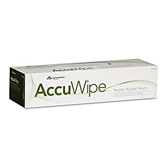 """AccuWipe 29756/03 White Recycled 1-Ply Delicate Task Wiper, 16.7"""" Length x 15"""" Width, 140-Count Pack (20 Packs of 140)"""