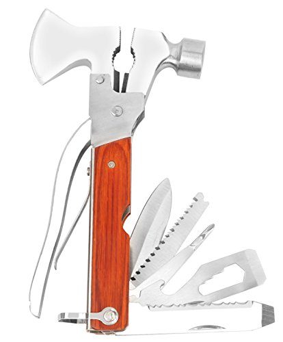 iMounTEK Multi Tool Set Pliers Screwdrivers Hammer Axe Wire Cutter and More With Holster
