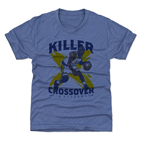 500 LEVEL Golden State Basketball Youth Shirt - Kids Large (10-12Y) Tri Royal - Tim Hardaway Crossover B