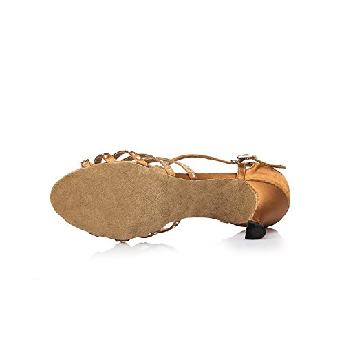 Brown 5cm 35 heel Miyoopark femme Salle 7 bal de marron 6KXwz0q