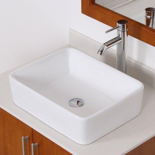 Elite bathroom rectangle white ceramic porcelain vessel - White porcelain bathroom fixtures ...